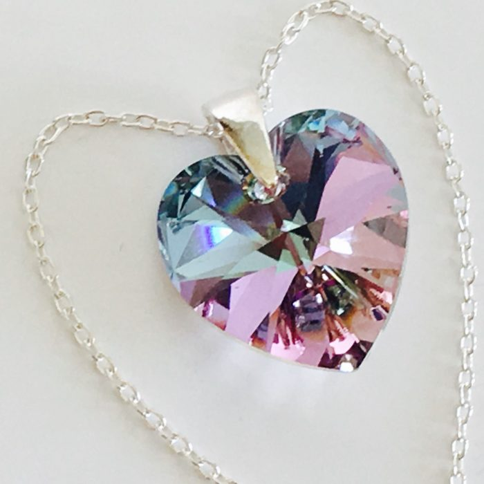 925 Sterling Silver Heart Necklace Pendant Vitrail Made With ...