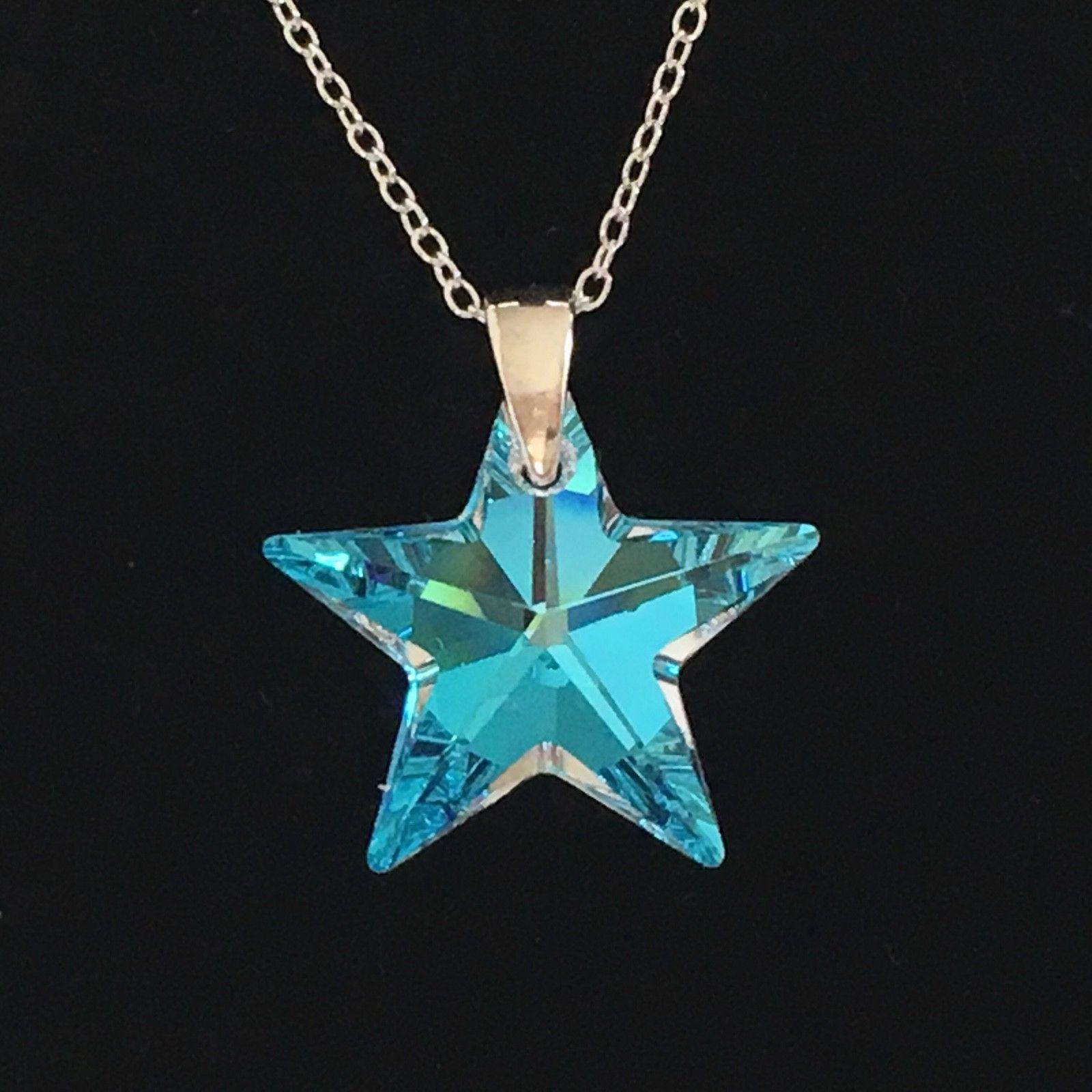 Swarovski Elements Blue Ab Star Crystal Elegance