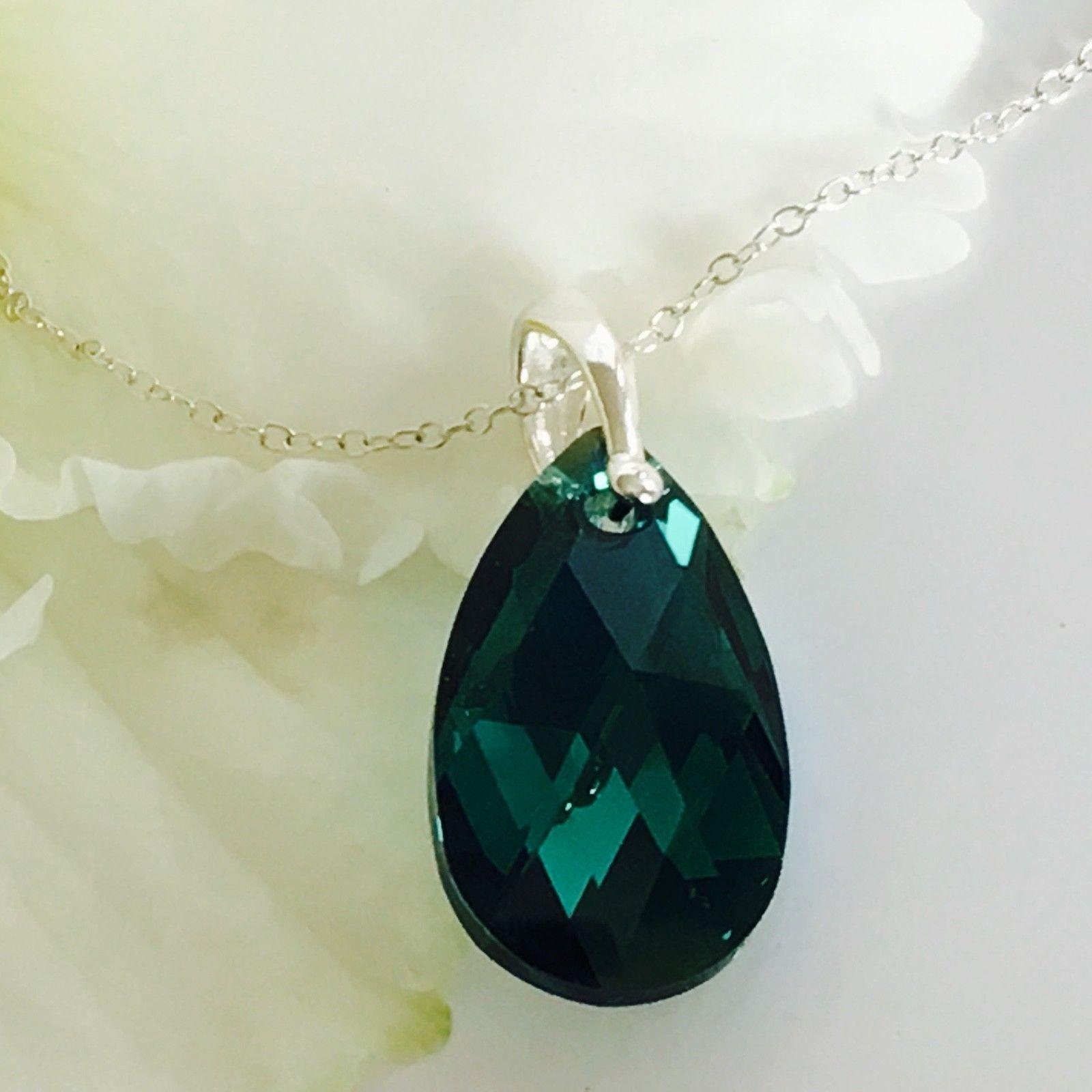 6b73db7f7 Swarovski Elements Emerald AB Pendant | Crystal Elegance